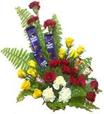 Mixed flower basket with cadbury chocolates to Chennai delivery. Fast and same day gifts delivery to all location in Chennai.  Visit our site : www.flowerschennai.com/Flower-baskets.php