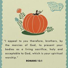 Romans 12:1 #VerseOfTheDay