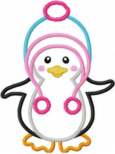 Instant Download Penguin Applique Machine by JoyousEmbroidery