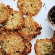 Zucchini Fritters with Soy Dipping Sauce Recipe - Bon Appétit