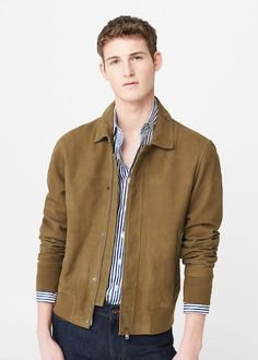 Leather clean jacket in a nice shade of ochre.