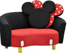 Mickey Mouse Sofa!!  I want this for my Disney themed sewing room!!!!