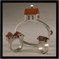 House rings. House bracelet. Creative jewelry