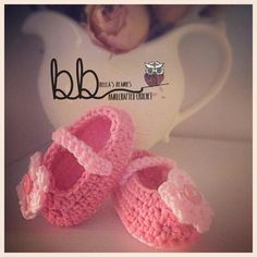 Crochet Mary Jane Shoes - sizes 0-12 month - made to order