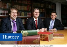 We have over 90 years of experience as heir hunters. From left to right, Neil, Charles and Andrew Fraser - the firm's three Partners. Yes, you've seen them on Heir Hunters! | www.fraserandfraser.co.uk | #heirhunters #genealogy #ancestry #familyhistory, #familytree