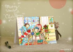 Creative Christmas, Christmas card 2014 by Lone Aabrink. www.aabrink.dk