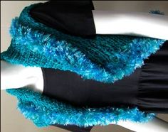 Deco-Ribbon + Splash Easy Knit Shrug - free knit pattern - Crystal Palace Yarns