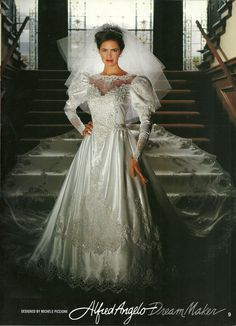 Alfred Angelo Dream Maker Spring of 1992 Found in a Magazine