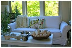 cleaning your white slipcovers