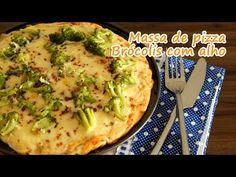 Receita de massa de pizza - brócolis com alho   Receitas que amo