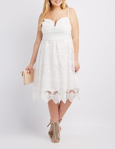 b4df48bd28c Plus Size Lace Sweetheart Strapless Dress from Charlotte Russe. Perfect for  that Springtime special occasion.