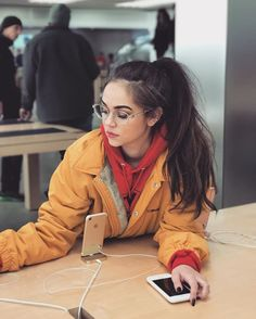 dana took pictures of me at the Apple Store