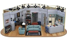 Artist Alan Wolfson worked with the original production designer of Seinfeld, Thomas Azzari, to create a tiny and highly detailed replica of Jerry Seinfeld's iconic apartment. They are availa…