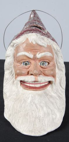 SANTA CLAUSE PAPER MACHE CANDY CONTAINER | eBay