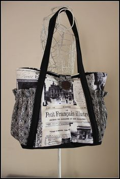 Shoulder Bag Handbag Nappy Bag Ladies Bag  by LilliMaydesigns, such a lovely bag