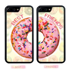 BFF Food Sweet Donut Best Friends Hard Cover Case For iPhone 7 6S 6 Plus 5S 5