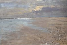 Edward Seago, A Norfolk Beach Low Tide, Oil on board, 21 x 31 in