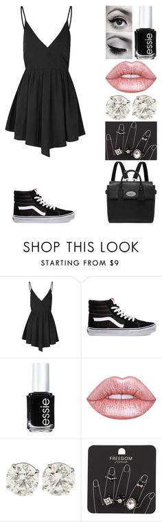 """let em know that we're still rock n roll!"" by emmmalaw ❤ liked on Polyvore featuring Glamorous, Vans, Essie, Lime Crime, Topshop and Mulberry"