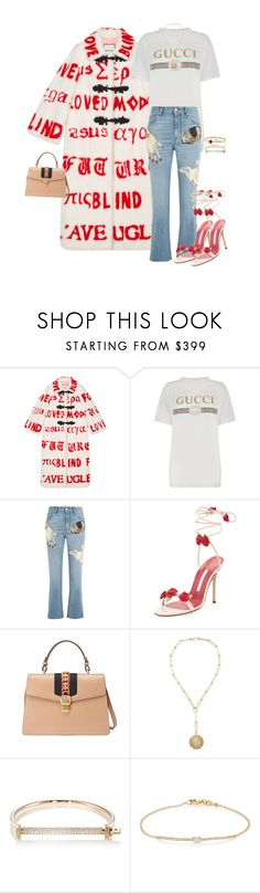 """""""Untitled #4197"""" by kimberlythestylist ❤ liked on Polyvore featuring Gucci, Alexander McQueen, Manolo Blahnik, Foundrae, MIANSAI, Tate and David Yurman"""