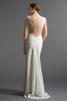 Fabulous back on this Watters Brides Viv Gown