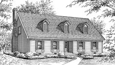 Eplans Cape Cod House Plan - Two Bedroom Cape Cod - 2020 Square Feet and 4 Bedrooms from Eplans - House Plan Code HWEPL69816