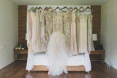 mix and matxh neutral champagne metallic bridesmaid dresses - photo by Jonas Peterson http://ruffledblog.com/exotic-garden-party-wedding-in-bali