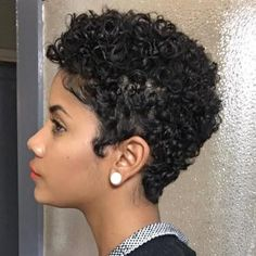 Lots of celebrities these days sport short curly hair styles, but some of them really stand out. When we think of curly short hair, the image of AnnaLynne Natural Hair Cuts, Curly Hair Cuts, Short Hair Cuts, Curly Hair Styles, Natural Hair Styles, Curly Afro, Afro Puff, Natural Beauty, Natural Tapered Cut