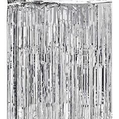 Metallic Silver Foil Fringe Shiny Curtains for Party, Prom, Birthday, Event Decorations 3 ft x 8 ft (1 Curtain) by Super Z Outlet®, http://www.amazon.com/dp/B00ZSKJ15C/ref=cm_sw_r_pi_awdm_MT.kxb0SKCCQD