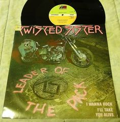 """Twisted Sister~Leader of the Pack~12"""" I Wanna Rock~frm Come Out and Play~UK Vinyl Record"""