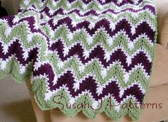 Snow Drops in the Valley - Crochet Afghan Pattern  - PDF