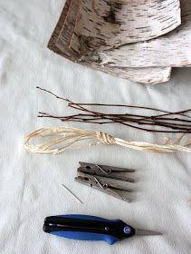 lil fish studios: Tiny Birch Bark Canoe Tutorial