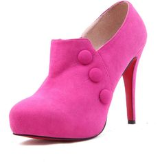 Rose red Suede 120mm Ankle Boot ($109) ❤ liked on Polyvore featuring shoes, boots, ankle booties, heels, sapatos, pink, high heel ankle booties, red suede boots, ankle boots and heeled booties