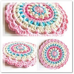 crochet mandala dishcloth 20 Unique and Beautiful Free Crochet Dishcloth Patterns - dishcloths? these are far too pretty to use as dishcloths! Beau Crochet, Crochet Mignon, Crochet Diy, Love Crochet, Crochet Crafts, Crochet Hooks, Crochet Flower, Bolero Crochet, Beautiful Crochet