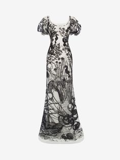 Shop Women's Sea Creature Embroidered Tulle Gown from the official online store of iconic fashion designer Alexander McQueen.