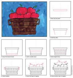 Draw a Bushel of Apples | Art Projects for Kids