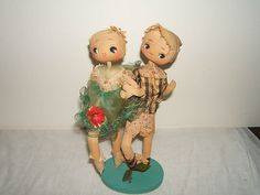 Vintage Japan Asian Girl Boy Cloth and Straw Doll Marked Japan | eBay