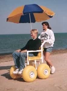 The All Terrain Chair, model ATC 100, is a beach wheelchair designed for use by individuals with mobility disabilities. $1772