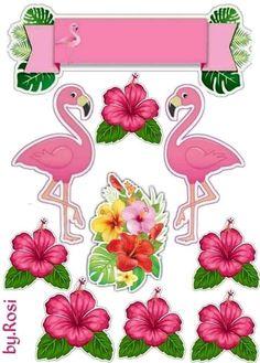 Flamingo Party, Flamingo Cake, Flamingo Decor, Flamingo Birthday, 50th Birthday Cake Toppers, Hawaiian Theme, Birthday Scrapbook, Paper Flowers, Creations