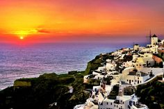 Beautiful Sunset Santorini Island Greece Photo Picture Image Is A Awesome HD Wallpapers