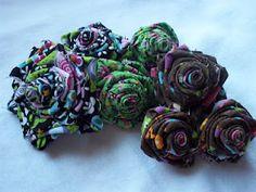 Headbands:) Fabric Flower Tutorial