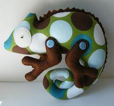 Doudou caméléon