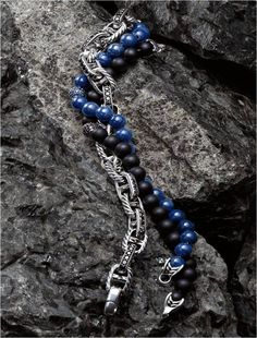 Layered bracelets lend a personal element to looks both casual and formal.