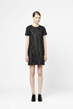 COS Leather shift dress | <3 the simplicity of this model