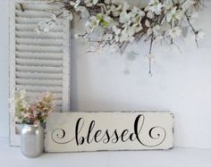 Love is in the details! Share a sweet sentiment with this rustic love decor sign from Roman Valley Farm. Hand-tailored in minute detail, the pine wood base is elegantly hand painted in white latex paint and distressed for a cottage chic charm. The word 'Love' is gracefully hand painted in a scrolling font in jet black acrylic paint. It can be hung on a focal wall using the saw tooth hanger on its own or arranged with a collage of frames for a signature style all your own. It can also be…