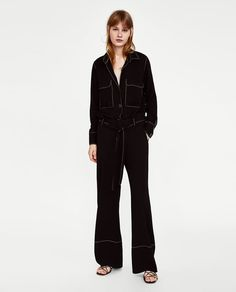 ZARA - WOMAN - TROUSERS WITH CONTRASTING TOPSTITCHING