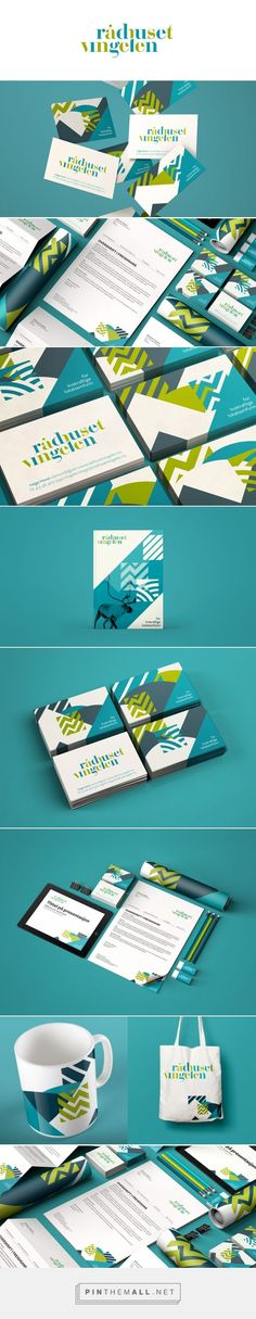 Cartes De Visite Radhuset Vingelen On Behance Charte Graphique Design Identite Marque Carte