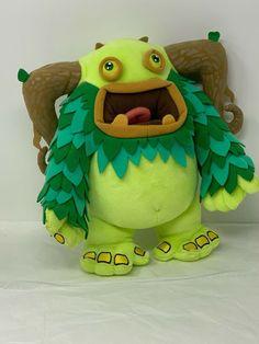 Soft Plush My Singing Monsters Entbrat Rare Hard To Find Bright Green Stuffed Toy Green Tree Monster. Tree Monster, My Singing Monsters, Disney Pixar Cars, Stuffed Toy, Green Trees, Plush Dolls, St Kitts, Pet Toys, Sri Lanka