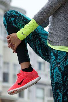Powerful pattern  The Nike Free Flyknit running shoe acf2581dfe1
