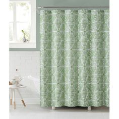 Ruthy's Textile Sailcloth Shower Curtain Color: Green