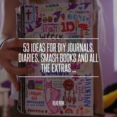 Cute Idea - 53 Ideas for DIY Journals, Diaries, Smash Books and All the Extras ... [ more at http://diy.allwomenstalk.com ] SourceGo to town!... #Diy #Book #Holder #Envelope #Project #Journal